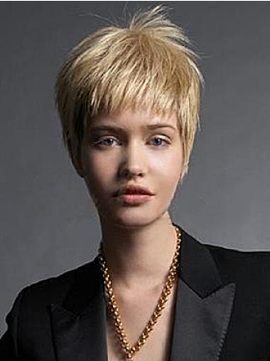 Blonde Verbazingwekkend Korte Pruiken
