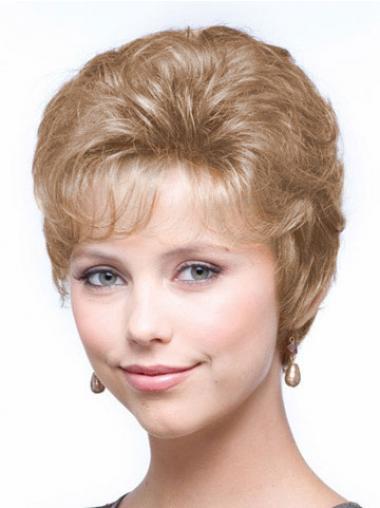 Blonde Kort Knus Klassiek Pruiken