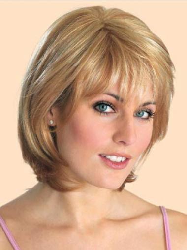 Aanlokkelijk Blonde Halflang Bobline Pruiken
