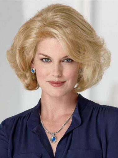 Blonde Halflang Stralend Klassiek Pruiken