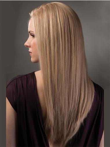 Perfect Remy Naturrlijk Haar Blonde Lange Pruiken