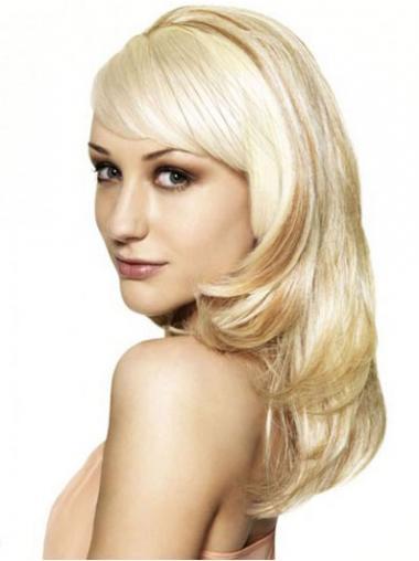 Blonde Lang Sassy Half Pruiken
