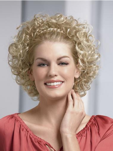 Blonde Halflang Teder Half Pruiken