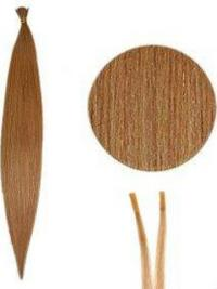 Gemakkelijk Kastanjebruin Steil Stick/I Tip Extensions