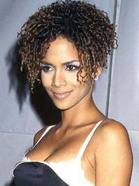Lace Front Kort Betoverend Halle Berry Pruik