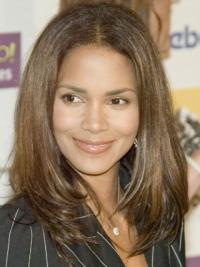 Lace Front Lang Volwassen Halle Berry Pruik