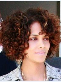 Full Lace Kort Ontworpen Halle Berry Pruik