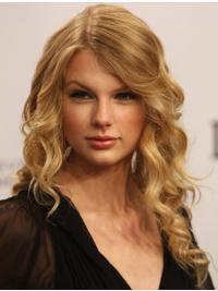 100% Handgeknoopt Lang Mode Taylor Swift Pruik