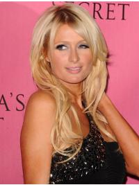 100% Handgeknoopt Lang Perfect Paris Hilton Pruik