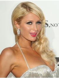 100% Handgeknoopt Lang Sassy Paris Hilton Pruik