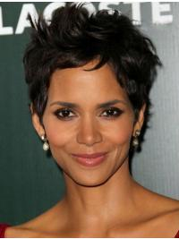 Lace Front Kort Mode Halle Berry Pruik