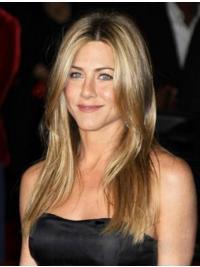 100% Handgeknoopt Lang Online Jennifer Aniston Pruik