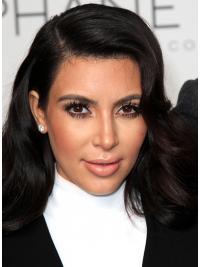 Zwart Lang Geschikt Kim Kardashian Pruik