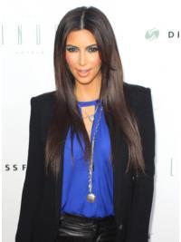 Bruin Lang Top Kim Kardashian Pruik