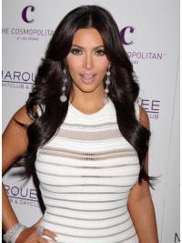 Zwart Lang Teder Kim Kardashian Pruik