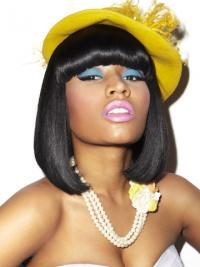 Zwart Halflang Comfortabel Nicki Minaj Pruik