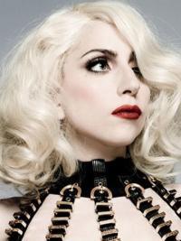Grijs Halflang modieuze Lady Gaga Pruik