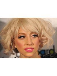 Blonde Halflang Braw Lady Gaga Pruik