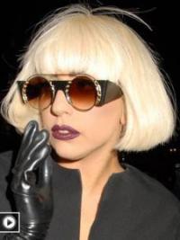 Blonde Halflang Schijnend Lady Gaga Pruik