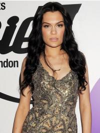Zwart Lang Mode Jessie J Pruik