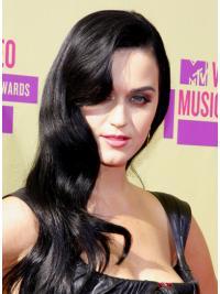 Zwart Lang Sassy Katy Perry Pruik