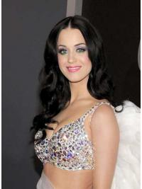 Zwart Lang Glad Katy Perry Pruik