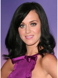 Zwart Halflang Stijl Katy Perry Pruik