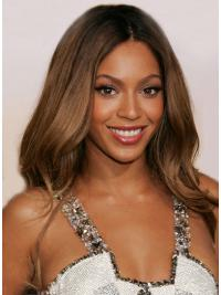 Prachtig Golvend Kastanjebruin Beyonce Pruik