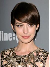 Lace Front Kort Aangenaam Anne Hathaway Pruik