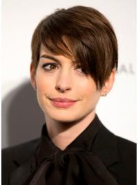Lace Front Kort Braw Anne Hathaway Pruik