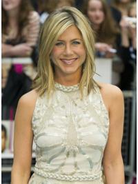 Blonde Halflang Sassy Jennifer Aniston Pruik