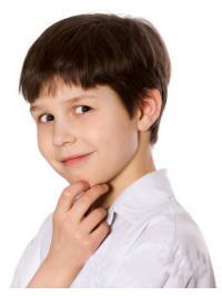 Bruin Kort Bevallig Kinderpruiken
