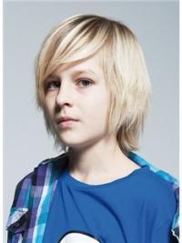 Blonde Halflang Verfijnd Kinderpruiken