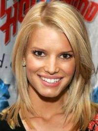 100% Handgeknoopt Halflang Bevallig Jessica Simpson Pruik