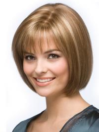 Blonde Halflang Braw Pruiken Echt Haar