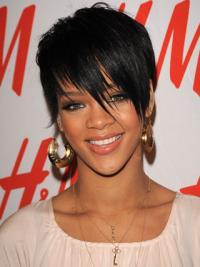 Lace Front Kort Geschikt Rihanna Pruik