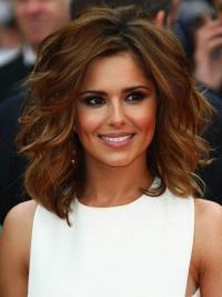 Kastanjebruin Halflang Populair Cheryl Cole Pruik