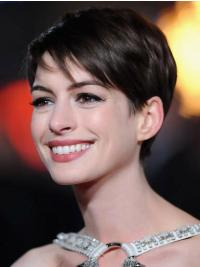 Lace Front Kort Rustgevend Anne Hathaway Pruik