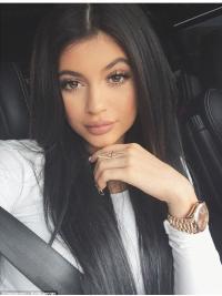 Full Lace Lang Zacht Kylie Jenner Pruik