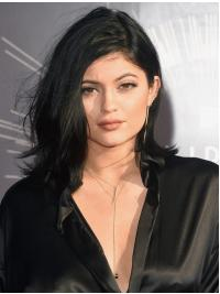 Full Lace Halflang Knus Kylie Jenner Pruik