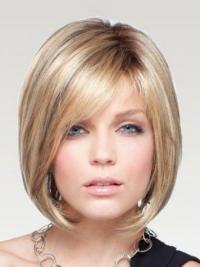 Blonde Steil,Bobline Traditiona Grijze Pruik